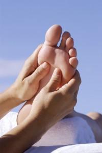 foto van voetmassage
